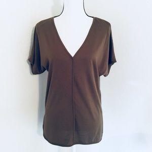 Michael Kors Oversize Olive V neck T-shirt Med